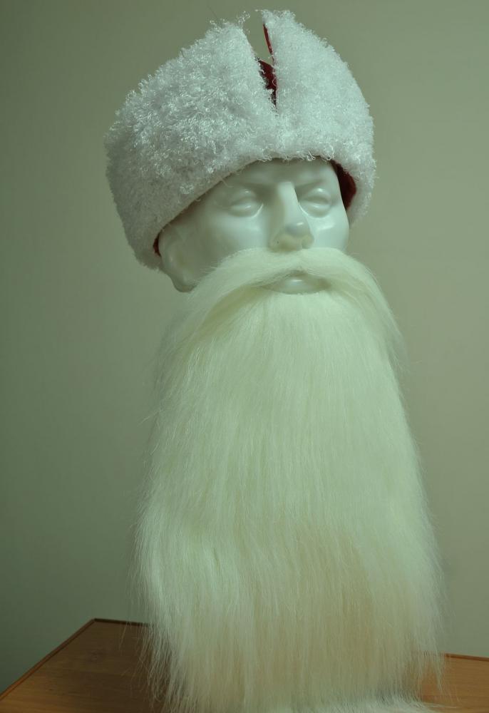 Как сделать бороду деда своими руками фото